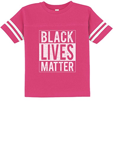 Tstars - Black Lives Matter Civil Rights Freedom Justice Toddler Jersey T-Shirt 5/6 Wow Pink