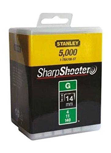 Stanley 1-TRA709-5T Lot de 5 000 agrafes robustes de type G 14 mm