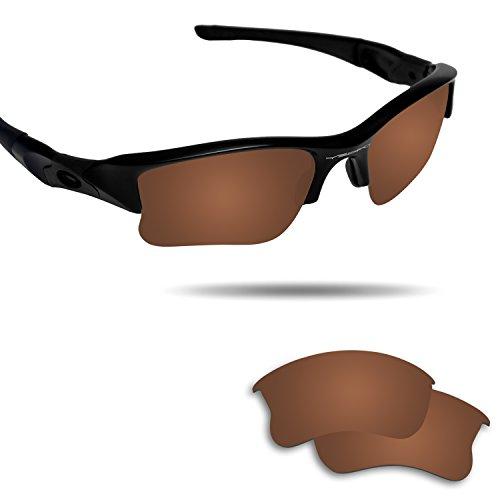 Fiskr Polarized Replacement Lenses for Oakley Flak Jacket XLJ Sunglasses Bronze - Lenses Xlj Flak Jacket Prizm Golf Oakley