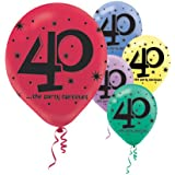 """""""40"""" Printed 12in Balloon Assortment 15ct"""