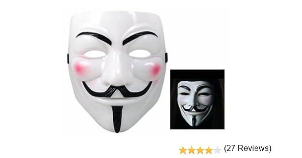 BeautyLife máscara para las fiestas o los Soirées, máscara blanca ...