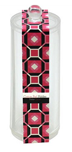Signature Home Acrylic Clear Organizer, Tall 1-Section Cotton and Makeup Pad Holder with Lid, 10 Ounce