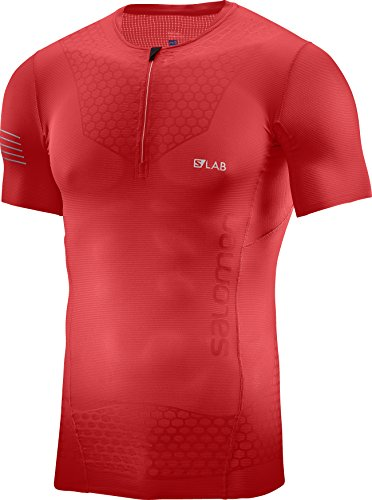 Salomon Mens S/Lab Exo Hz Ss Tee M, Racing Red, X-Large by Salomon