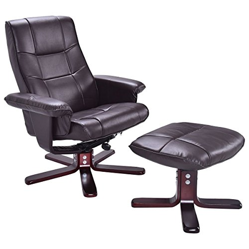 Giantex Executive Pu Leather Seat Chair Leisure Recliner Swivel Furniture