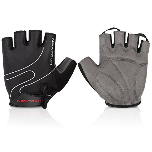 Cycling Gloves Mountain Bike Gloves Bicycle Road Racing Riding Half Finger Gloves with Light Anti-slip Pad Shock-absorbing Biking Sport Gloves for Men and Women