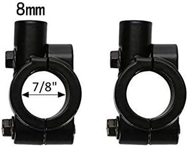 Black 8MM 7//8 Handlebar Mirror Mount Clamp Aluminum Motorcycle Handlebar Rearview Side Mirrors Adapter Holder Clamp