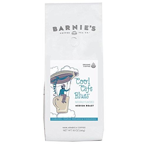 (Barnie's Coffee & Tea Cool Café Blues, Ground Coffee, Medium Roast, Arabica Coffee Beans, 10oz Bag)