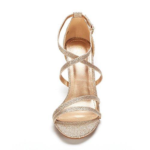 Pump DREAM Glitter PAIRS Heel Gold Women's Sandal xRCBwPRq