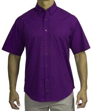 Amazon.com: Short Sleeve Purple Dress Shirt, Wrinkle Resistant ...