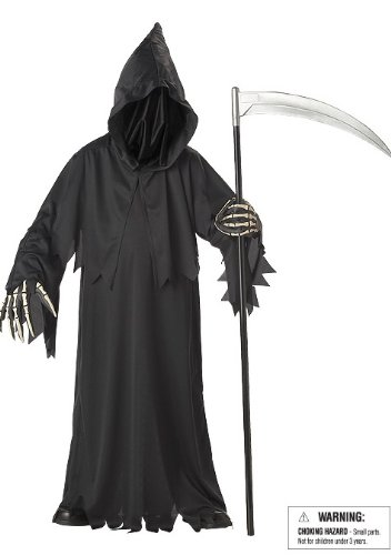 California Costumes Toys Grim Reaper Deluxe, (Scary Halloween Costumes For Kids)