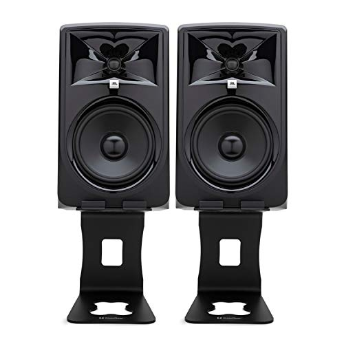 JBL 308P MKII Powered 8-Inch Two-Way Studio Monitor (Pair) Bundle with Knox Gear Monitor Stands (3 Items)