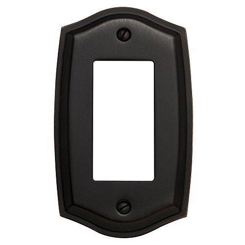 Baldwin 4785.112.CD Colonial Design Single GFCI Switch Plate, Venetian Bronze (Colonial Design Single)