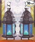 10 Wedding Centerpieces Blue Candle Lantern
