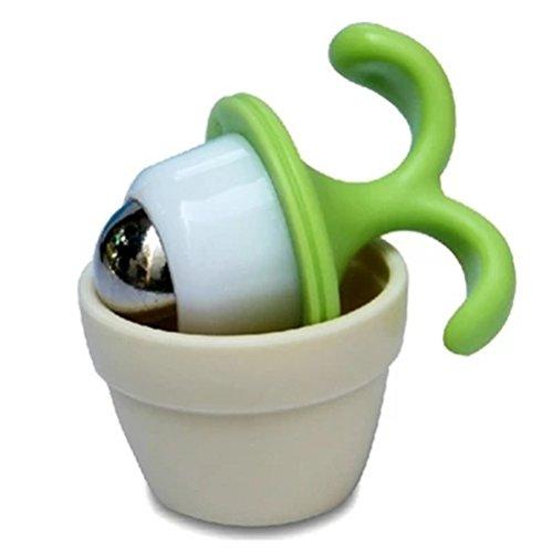 Doptou 1 Pcs Flowerpot Shape Mini Roller Ball Arms Body Massager(Random Color)