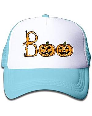 Halloween Boo2 On Children's Trucker Hat, Youth Toddler Mesh Hats Baseball Cap