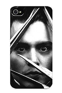 Hot Snap-on Edward Scissorhands Johnny Depp Tim Burton Hard Cover Case/ Protective Case For Iphone 4/4s