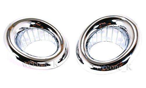 K1AutoParts 1 Pair Front Chrome Fog Light Lamp Cover Trim For Mitsubishi Montero/Pajero Sport 2008 2009 2010 2011 2012 2013