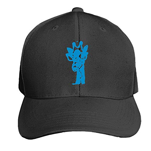 EIGTU Unisex Blue Giraffe with Glasses Baseball Cap Dad Hat Peaked Flat Trucker - Hat Couture Trucker