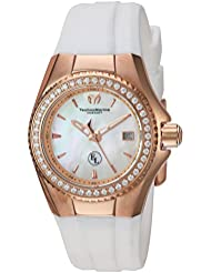 Technomarine Womens Eva Longoria Swiss Quartz Stainless Steel and Silicone Casual Watch, Color:White (Model...