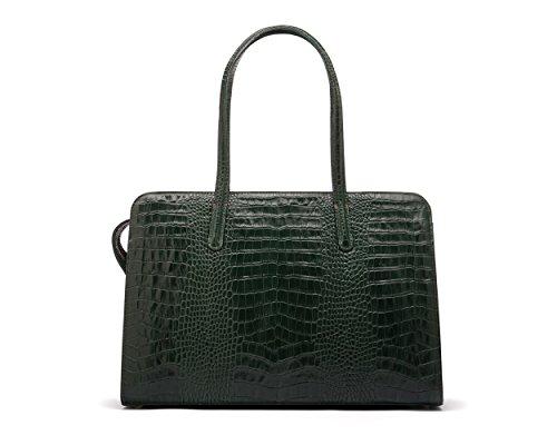 SAGEBROWN Green Croc Ladies Leather Work Bag by Sage Brown (Image #1)