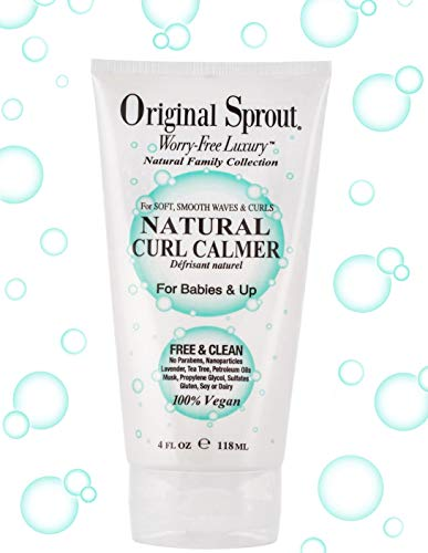 Original Sprout Natural Curl Calmer. All Natural Hair Care. Curly Hair Moisturizer and Hair Strengthener. 4 oz. (Best Product For Natural Curls)