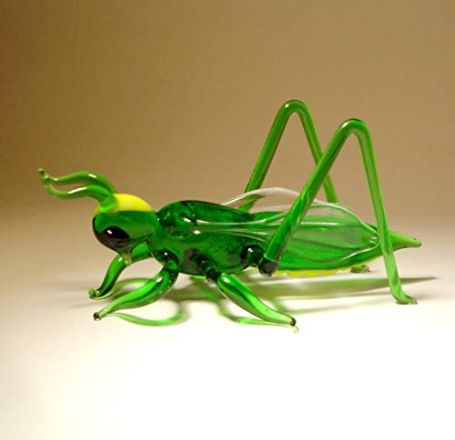 Glass Cricket Grasshopper Figurine