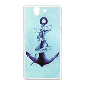 Cute Colorful Stripe-Anchor Navy Hard Protective Plastic Back Case Cover for Sony Xperia Z Perfect as Christmas gift(5)