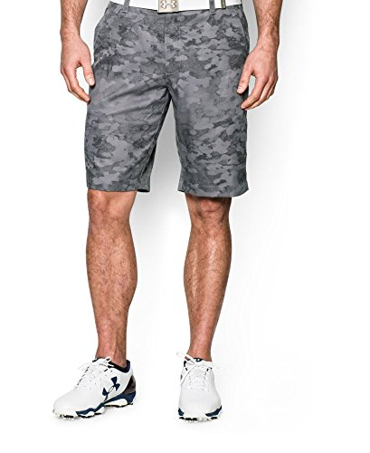 Under Armour Mens UA Matchplay Printed Shorts 30 Steel