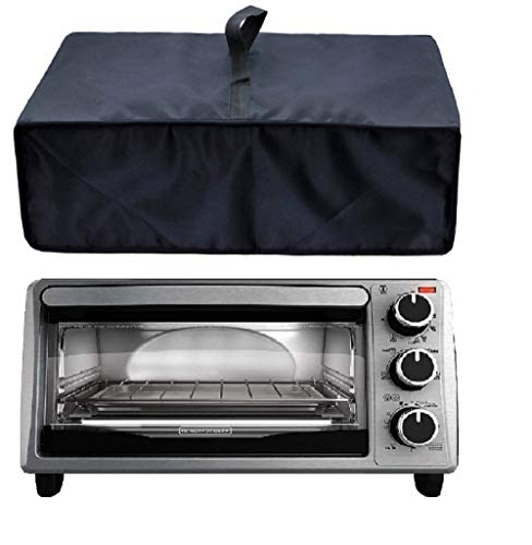 Heavy Duty Heat-Resistant Waterproof Dust-proof cover for BLACK 4-Slice Toaster Oven TO1303SB/TO1313SBD /Proctor Silex 31122 Modern Toaster Oven and other models (Oven Cover Toaster)