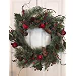 Adirondack-Crabapple-Winter-Wreath-22-Inches-Handcrafted-With-Bright-Red-Apples-Artificial-Greens-And-Pine-Cones-Hang-On-The-Front-Door-For-The-Winter-Holiday-Season