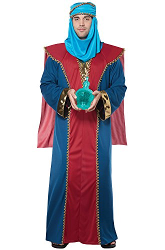 California Costumes Men's Balthasar, Wise Man (Three Kings) - Adult Costume Adult Costume, -Red/Blue - http://coolthings.us