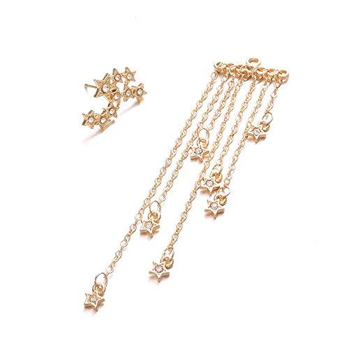 Skate 14k Gold Charm - Reasoncool Women's Ear Studs Long Tassels Drop Hook Dangle Earrings Ornaments Geometric Dangler Eardrop