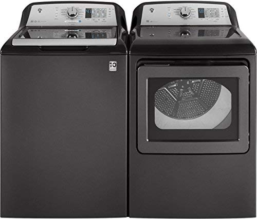 GE Top Load Speed Wash GTW685BPLDG 27″ Washer with Front Load GTD65GBPLDG27″ Gas Dryer Laundry Pair in Gray