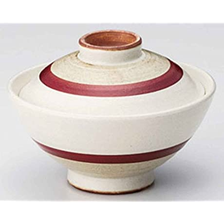 Asuka 6inch Set Of 5 Ramen Bowl With Covers Beige Ceramic Made In Japan