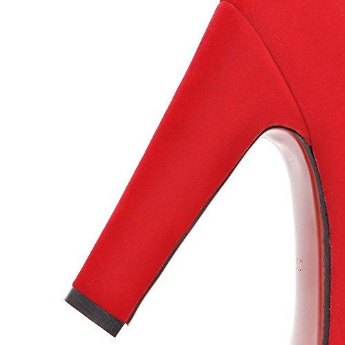 Balamasa Girls Fibbia In Metallo Con Fibbie In Pelle Imitata Pumps-shoes Rosso
