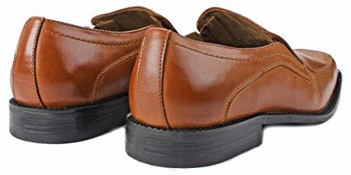 Zapatillas Hombre Delli Aldo M-16063 Con Punta Cuadrada De Doble Holgazán Antideslizante En Color Marrón