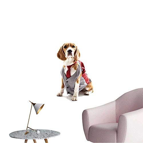 Wall Decals Serious Business Dog in Elegant Costume Environmental Protection Vinyl,28
