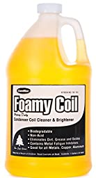 ComStar 90-184 Foamy Coil Non-acid Foaming Evaporator and Condenser Coil Cleaner, 1 gal Container, Yellow