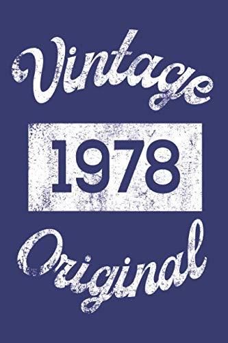 Vintage 1978 Original: Celebrating 40th Happy Birthday Keepsake Message Notebook