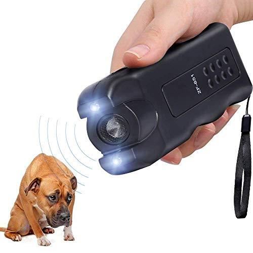 Alfaw LED Ultrasonic Dog Repeller, Electronic Anti Barking Stop Bark Handheld 3 in 1 Pet Dog Trainer with Flashlight, Dog Training Device/Dog Deterrent/Training Tool/Stop Barking