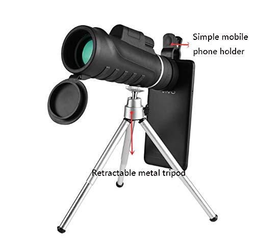 ALHM-F Hochaufl/ösendes Monokular 40x60 Hochaufl/ösendes Au/ßengro/ßes Okular Nichtinfrarot-Nachtsicht-Sichtteleskop Weite
