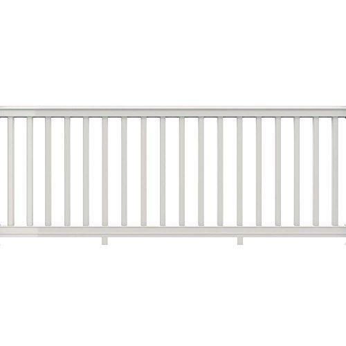 Veranda Premier 8 ft. x 36 in. White Vinyl Rail with Square Balusters