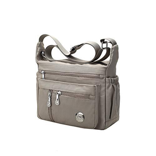 Fabuxry Purses and Shoulder Handbags for Women Crossbody Bag Messenger Bags (Khaki)