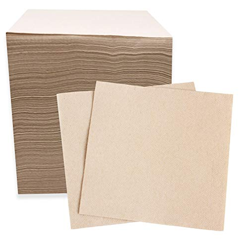 (Recycled Post Consumer Napkins, 250 Compostable Eco Lunch Biodegradable Napkins)