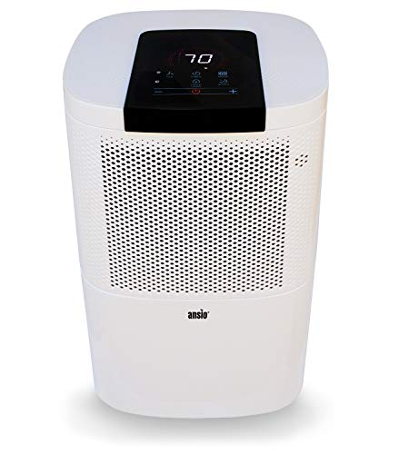 Electric Dehumidifier 12 Ltr/Day with 24h Timer, Continuous Drainage, Defrosting,...