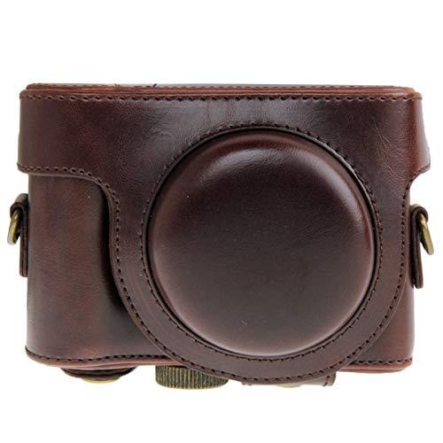 Sony HX50 Pretty (色:コーヒー) 用ファッションコンビニエンス丈夫なレザーカメラケースバッグ B07M7S3H26