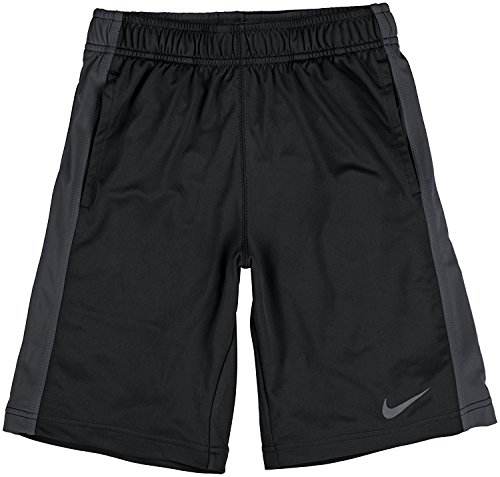 New Boys Nike Black Grey Dri-Fit Polyester Fly Shorts (X-Large)