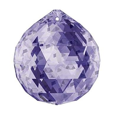 SWAROVSKI Crystal Blue Violet Crystal Ball 30mm, Feng Shui, Ball Prism : Garden & Outdoor
