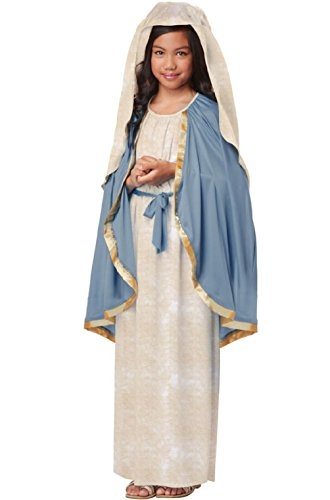 Virgin Mary Costume For Kids (Holy Bible Biblical Virgin Mary Religious Child Costume)