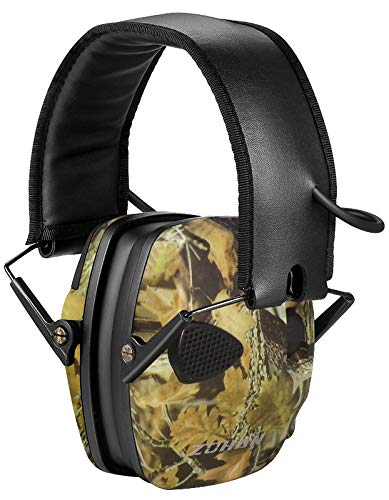 ZOHAN Sound Amplification Electronic Shooting Earmuff, Low Profile Noise Reduction Ear Defender For Hunting, NRR 22dB Professional Hearing Protector (Camo(Without Case)) by ZOHAN